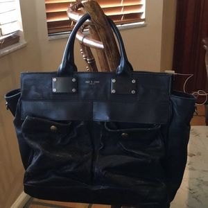 Rag and Bone Large Black Pilot Bag
